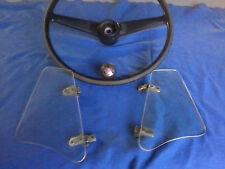 1959 Bugeye Sprite original Steering Wheel , L&R Wing Wondows & Shift Knob