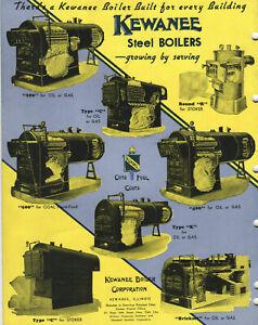 VINTAGE 1928 KEWANEE STEEL BOILERS CATALOG! ASBESTOS INSULATION! WATER HEATERS!