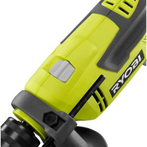 RYOBI Hammer Drill 1/2 in. Keyed Chuck 6.2 Amp 2700 RPM Lock-on trigger button