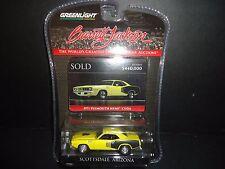 Greenlight Plymouth HEMI Cuda 1971 Yellow 1/64 Barrett Jackson