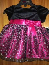 Baby Girls Red & Black Dress & Pants New Tags 6 months Short Sleeved Love