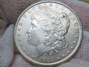 1885 P Silver Morgan Dollar
