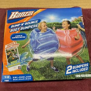 Banzai Bump N' Bounce Body Bumpers 2 Bumpers Ages 4-12 Brand New