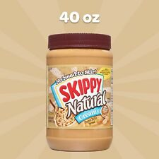 NEW SKIPPY NATURAL CREAMY PEANUT BUTTER SPREAD 40 OZ (1.13kg) JAR 7g PROTEIN BUY