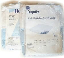2 NEW Waterproof Dignity Cotton Quilted Mattress Sheet Protector Bed Pads NIP