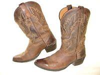 Dan Post Boots Renegade Western Cowboy DPC3004 Brown Distressed Youth US SZ 4Y