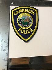 G MA Cambridge Massachusetts Police Patch