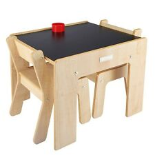 ❤️ Little Helper Childrens   Kids Table & Chairs Set for 2   Chalkboard Top ❤️