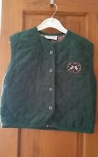 Age 6 green waistcoat with bow fabric.100%cotton pommefromboise Paris