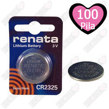 100 Renata CR2325 3V Litio Moneta Pila Batteria Orologio DL 2325, ECR