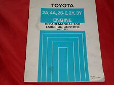 TOYOTA 2A 4A 2S-E 2Y 3Y Engine Motor Werkstatt Handbuch von 1983