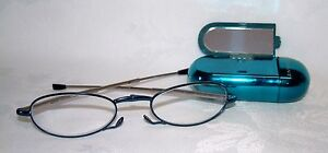 FOSTER GRANT - GWENDOLYN SHINY TEAL - FOLDING - MICRO READERS -NEW RRP £30 +2.00