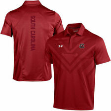 NWT Mens XL South Carolina Gamecocks Under Armour Coach Garnet Golf Polo USC UA