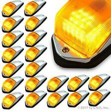 20 pc Amber Chrome 31 LED Cab Marker Lights fits Peterbilt Kenworth Freightliner