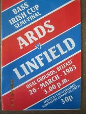 IRISH CUP SEMI-FINAL       1982-83        ARDS v LINFIELD