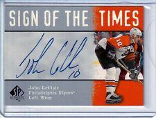 2000-01 SP Authentic Sign of the Times #JL John LeClair AUTO Philadelphia Flyers