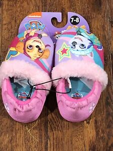 NEW PAW PATROL SKYE EVEREST TODDLER  SLIPPERS SIZE 7/8