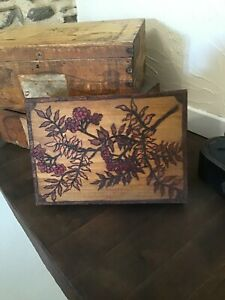 Vintage French Embossed Wooden Box