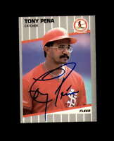 Tony Pena Hand Signed 1989 Fleer St.Louis Cardinals Autograph