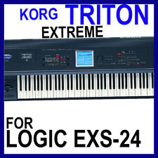 KORG TRITON EXTREME For APPLE LOGIC EXS Patches/Presets/Sounds 12 DVD'S 45GB