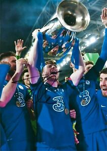 12x8 Inch 30x20cm SIGNED PHOTO CHELSEA 2021 CHAMPIONS LEAGUE FINAL TIMO WERNER 6