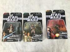 Lot of 3 Star Wars Saga Collection, C3P0, Obi-Wan Kenobi, Rebel Trooper NIP