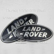 Land Rover Discovery 4 Parrilla Delantera Negra sobrealimentados más grande atrás Insignia Par Set