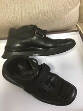 PRADA MEN'S BLACK LEATHER BOOTS LOAFER CASUAL SPORT SHOES  6.5 Prada 7 us 39.5eu