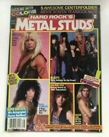 Hard Rock's Metal Studs Magazine 1986 Kiss Band Motley Poster Ratt Jovi Dokken