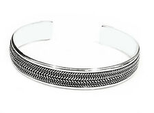 Men's and Women's Silver Bangle Open Cuff - Made From Solid 925 Sterling Silver