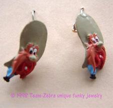Funky YOSEMITE SAM EARRINGS-Looney Tunes Bug Bunny Mini Figure Costume Jewelry