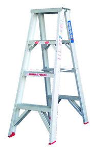 INDALEX Tradesman Aluminium Double Sided Step Ladder 4ft 1.2m
