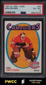 1971 O-Pee-Chee Hockey Ken Dryden ROOKIE RC #45 PSA 6 EXMT (PWCC-E)