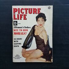 Vintage Picture Life Pin-Up Magazine June 1954 - Ava Gardner - Death Sleep