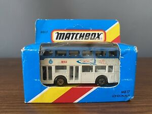 Vintage MB17 MATCHBOX LONDON BUS LEYLAND TITAN BUS SPACE FOR YOUTH BNIB 1985