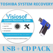 TOSHIBA System Recovery Boot CD DVD USB Repair Restore Windows 10 8 7 Vista XP