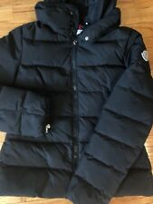 Moncler Black Matte RARE Long Sleeve Zipper Closure Winter Puffer Small Hooded