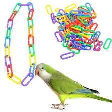100pcs Plastic C-clips Hooks Chain C-links Sugar Glider Cage Rat Parrot Bird Toy