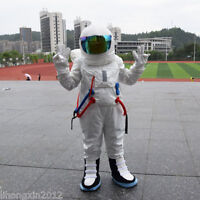 Spaceman Mascot Costume Astronaut Halloween Cosplay Party Fancy Dress Adults US