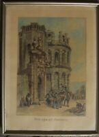 ::PORTA NIGRA SIMEONSTOR TRIER 1932 AQUARELL & TUSCHE C. CHRISTIANSEN SIGNIERT