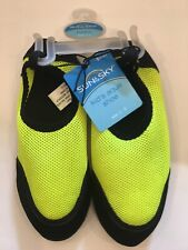 Sun And Sky Kid's Aqua Shoe Size 1-2 In Neon Yellow And Black NWT