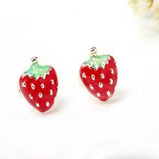Stud Earrings Charm Jewelry Wws Cute Mini Women Strawberry Ear