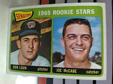"1965 TOPPS # 181 Senators Rookies ""Don Loun/ J.McCabe"" -----EX/MT.......RB1032"