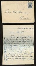 FINLAND 1920 PROVISIONAL 50p SOLO COVER GAMLA KARLABY to FORSSA + LETTER