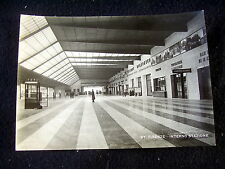 OLD REAL PHOTO-PC: FIRENZE~INTERNO STAZIONE~ANIMATED~RAILWAY STATION~FLORENCE
