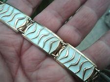 Norwegian Silver & White Enamel Wave Bracelet - David Andersen Norway