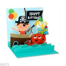 3D Argh Matey Pirate Pop Up Card Greeting Card by Up With Paper Treasures #989