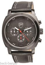 DUCATI Crono Total Black Uhr Quarz Chronograph Armbanduhr Watch schwarz NEU !!