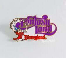 Disney DLR Disneyland 1998 Attractions Sorcerer's Mickey Fantasyland Logo Pin