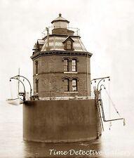 Sandy Point Lighthouse, Maryland - 1885 - Historic Photo Print